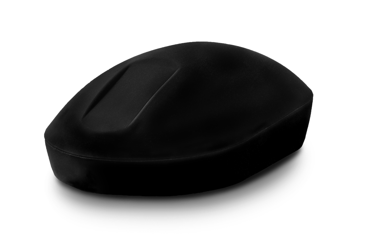 Wireless black mouse angle